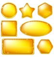 golden buttons set vector image vector image