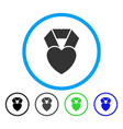 heart award rounded icon vector image vector image