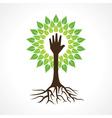 Helping hand make tree vector image vector image
