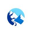 high mountain logo vector image vector image