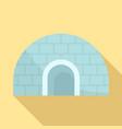 igloo icon flat style vector image vector image