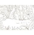 Jungle forest cartoon coloring book vector image vector image