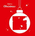 merry christmas theme with map of indianapolis vector image