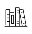 monochrome shelf with books icon vector image