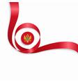 montenegrian wavy flag background vector image vector image