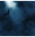 Moonlight wolf howling vector image