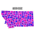mosaic montana state map of square elements vector image vector image