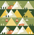 mountains in summer seamless pattern vector image vector image