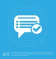 ok chat speech bubble vector image