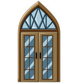 old fashioned style of glass window vector image vector image