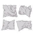 pillows white vector image