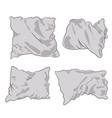 pillows white vector image vector image