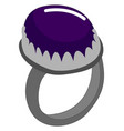purple ring on white background vector image vector image