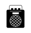 radio music player icon vector image vector image