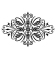 rombus flower ornament vector image vector image