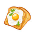 sandwich with fried egg fast vector image vector image