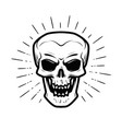 scary human skull jolly roger halloween zombie vector image vector image