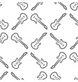seamless pattern from electric guitar black vector image