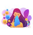 seasonal allergy concept vector image vector image