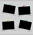 set four photo frame icon vector image