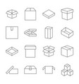 set of box icons in modern thin line style high vector image vector image