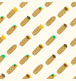set of color tortilla food seamless pattern eps10 vector image vector image