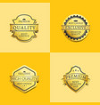 set of premium quality best gold labels guarantee vector image vector image