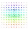 sickle and hammer shape halftone spectrum grid vector image