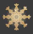 snowflake christmas symbol vector image vector image