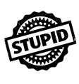 Stupid rubber stamp vector image vector image