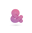 Symbol and ampersand logo icon design template vector image