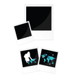 travel picture frame in black color vector image vector image