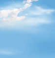 white clouds in sky on blue vector image