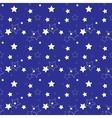 White Stars on a Blue Background Seamless Pattern vector image