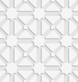 White triages and stars with shadow tile ornament vector image