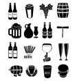 wine beer icons set vector image vector image