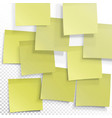 yellow sticky notes editable template on vector image vector image