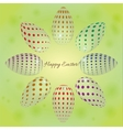 abstract background with colored eggs for Easter vector image