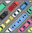 city car vehicle transport top view car automobile vector image
