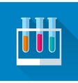 3 tubes with colored liquids vector image vector image