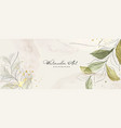 abstract background watercolor green botanical vector image vector image