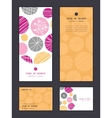 abstract textured bubbles vertical frame vector image vector image