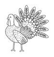 animal turkey cartoon vector image