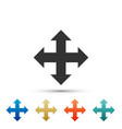 arrows in four directions icon on white background vector image vector image