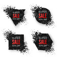Big sale banner explode geometric shapes banners