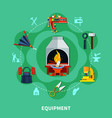 blacksmiths tools icons composition vector image vector image