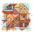 boho african background vector image vector image