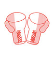boxing gloves sport flat shadow vector image