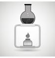 burner tube lab chemistry vector image vector image