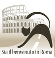 Card with Cat Welcome to Rome vector image